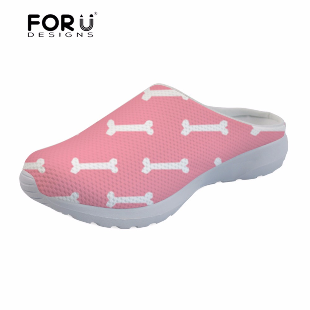 Heels Amicable Forudesigns Womens Sandals Dog Bone Paw Printing Slipper Female Platform Sandals Summer Ladies Shoes Flats Mesh Comfortable Women's Shoes