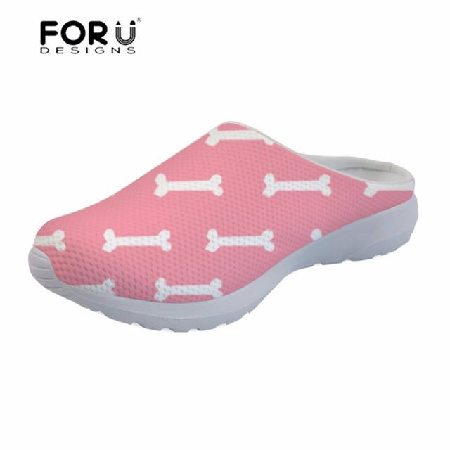 b16fdd9edddb FORUDESIGNS Women s Sandals Dog Bone Paw Printing Slipper Female Platform Sandals  Summer Ladies Shoes Flats Mesh Comfortable