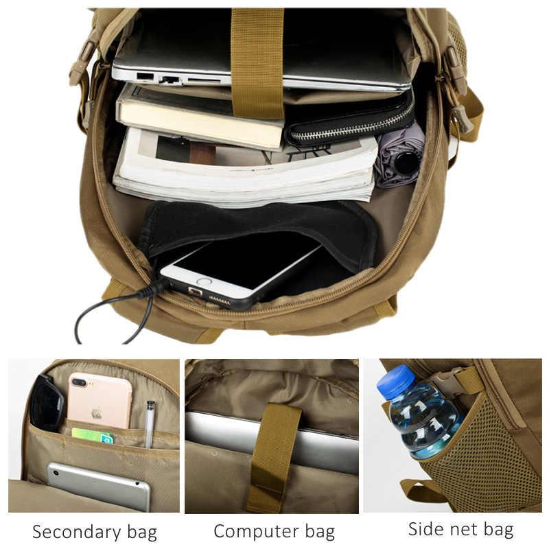 Quente Ao Ar Livre Militar Tático Mochilas 40L Molle Sacos de Alta-Capacidade de Carregamento USB MutiFunction Escalada Mochila Para Mulheres Dos Homens