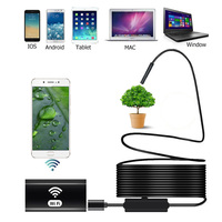 Wireless WIFI Endoscope Camera 8mm 720P HD Snake Camera IP67 Waterproof Endoscope for iPhone Android Smartphone Table Ipad PC