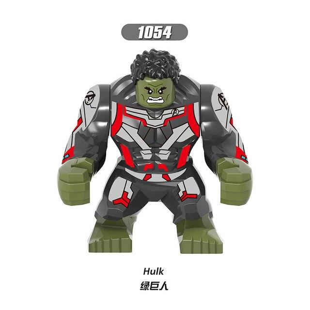 Para LEGOING Clayface Endgame Tamanho Grande Figuras Hulk Marvel Avengers Anti-Veneno Veneno Whiplash Modelo Blocos de Construção de Tijolos Brinquedos