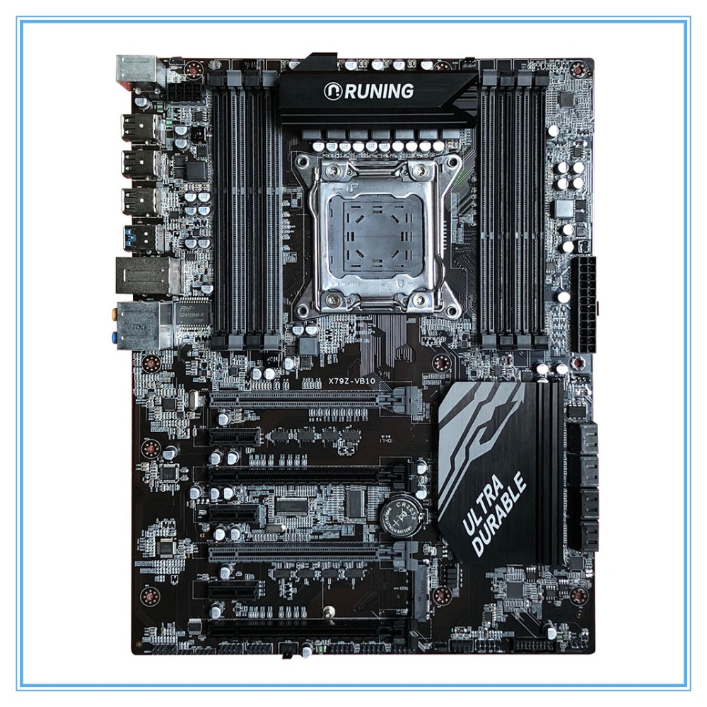 New Desktop Motherboard X79 X79Z-VB10 LGA 2011 DDR3/ECC 128G USB3.0 All-Solid ATX Mining Board mainboard