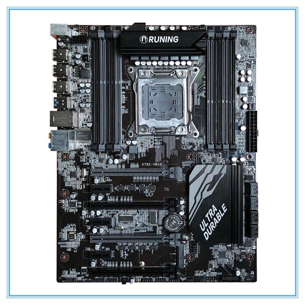 New Desktop Motherboard X79 X79Z-VB10 LGA 2011 DDR3/ECC 128G USB3.0 All-Solid ATX Mining Board mainboard