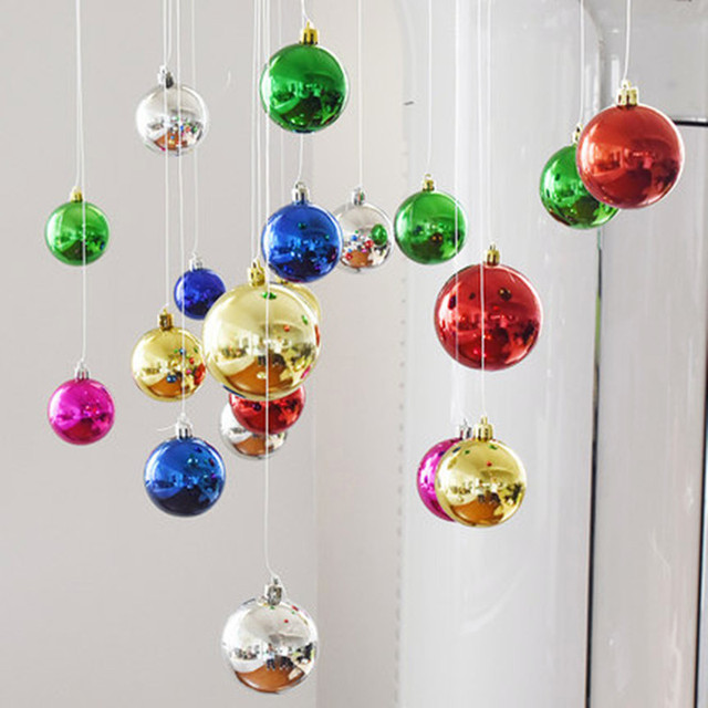 6pc colorful modern christmas tree ball hanging baubles decoration for xmas party new year ornament home - Modern Christmas Ornaments