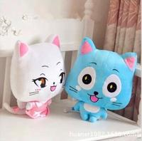 50cm Anime Figure Happy & Lulu Animals Fairy Tail Plush Toys Happy Lulu Cat Dolls For Children