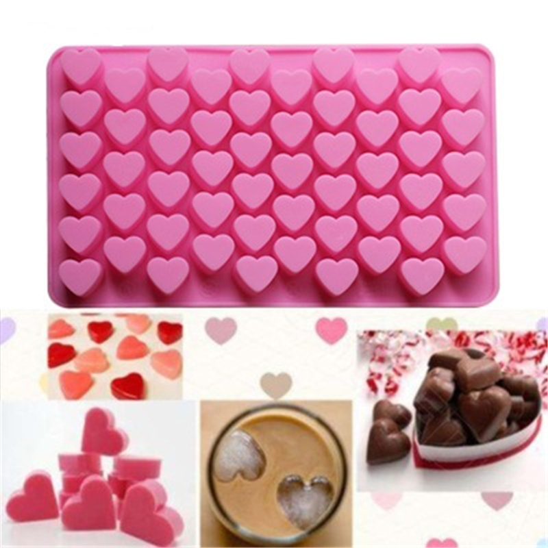 Silicone Mold 55 Mini Love Heart Series Chocolate Mould DIY Cake Decoration Baking Mold 100% Food Grade Silicone Easy Release