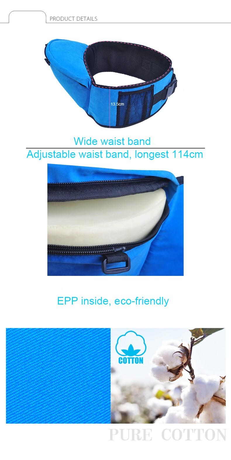 Best Selling New Design Baby Carrier Hip Seat Anti-Skip Top Children Sling Kids Backpack High Grade Suspenders 12