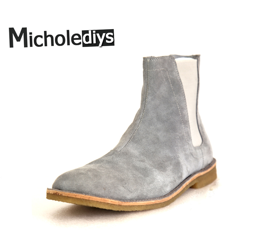 Micolediys Handmade Vintage Chelsea Boots All-matching Kanye West Boots Luxury Brand Platform Mens Dress Wedding Party Shoes galitzine платье до колена page 1