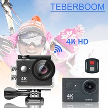 TEBERBOOM 4K WiFI Outdoor Action Camera Ultra HD Waterproof DV Camcorder 170 Degree Wide Angle