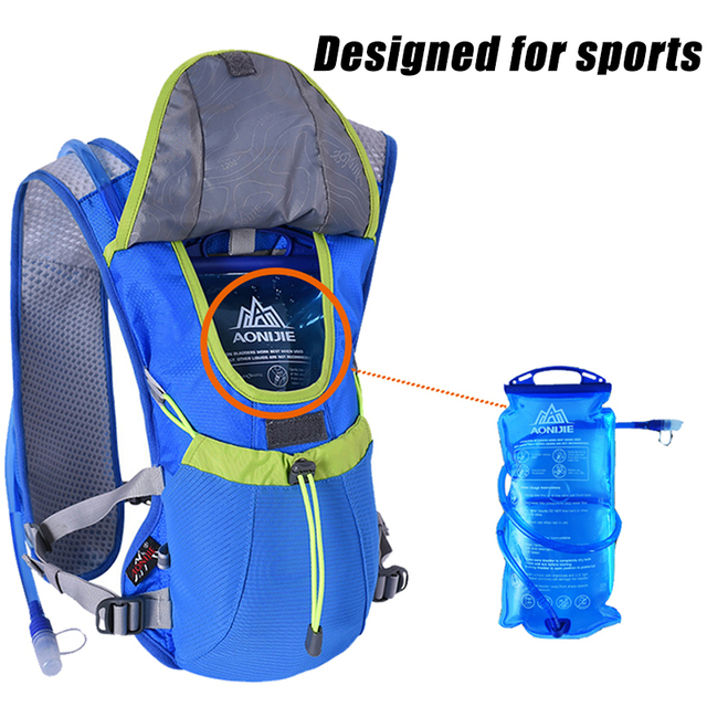 AONIJIE Water Bladder Soft Drinking Flask Hydration Bladder Hiking Travel Waterbag 1L 1.5L 2L 3L 5