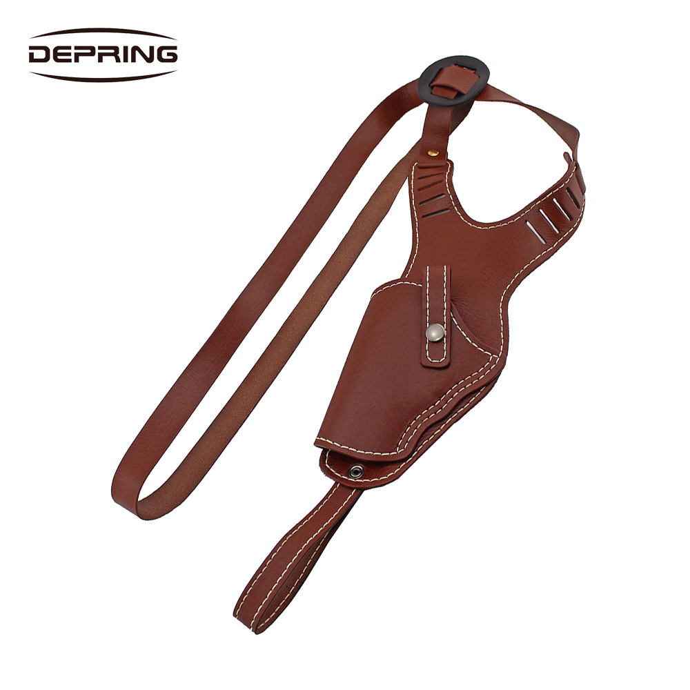 Leather Pistol Shoulder Holster Right Hand Gun Holster Fits G17 Medium Handguns