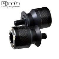 Screws 3003 BK M6 Black Color 6mm Motorcycle Carbon Fiber Swingarm Spools Slider Fits For Yamaha