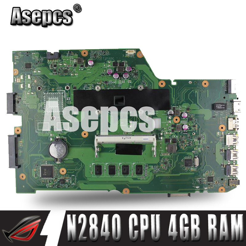 Asepcs x751ma com n2840 cpu 4 gb ram 90nb0610-r00150 mainboard rev2.0for asus x751ma x751m x751md placa-mãe do portátil 100% testado