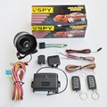 CE Certificado Pela FCC Alta Qualidade SPY One Way Car Alarm com Sistema de Travamento Da Porta Central Keyless Entry & Tronco Remoto liberação