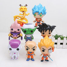 8 4 pçs/set NEW Dragon Ball Z Super Saiyan Goku killin shenron freeza Piccolo freeza buu PVC Action Figure brinquedo modelo 10cm(China)