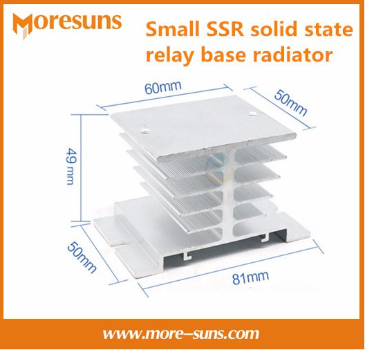 Подробнее о Free shipping 5pcs/lot Single phase10A-25A Small SSR solid state relay base radiator,industrial aluminum profileT white heatsink free shipping compact relay socket solid state heat radiator heatsink