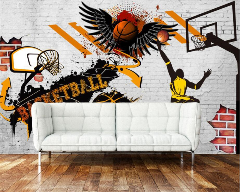 Beibehang custom wallpaper living room bedroom background 3d beibehang custom wallpaper living room bedroom background 3d wallpaper vintage cement wall nba ink basketball background mural in wallpapers from home amipublicfo Image collections