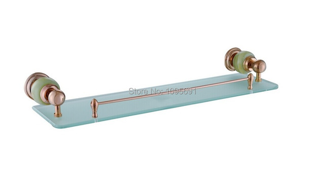 European Style Luxurious Rose Gold Brass Frosted Glass Jade Glass