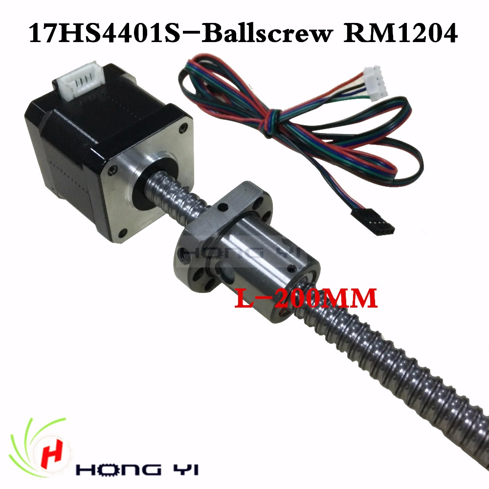 Nema17 ball screw Stepper Motor 42 motor 42BYGH 1.7A motor ball screw SFU1204 L200MM for CNC 3D printer 4-lead 17hs4401s anet 3d printer screw linear 2 phases stepper motor