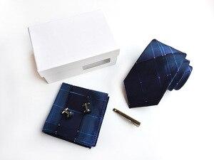 Image 5 - 2020 mens fashion tie set jedwabne krawaty dot krawaty dla mężczyzn tie chusteczka spinki do mankietów pudełko na prezenty pakowanie odzież męska akcesoria