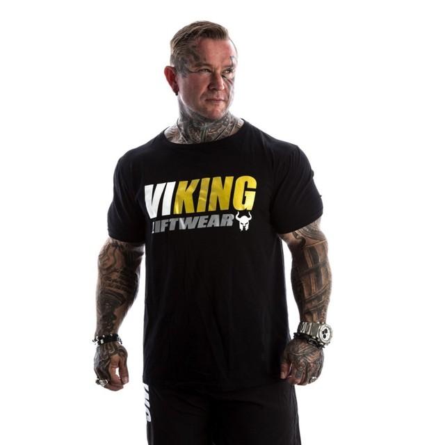 VIKING 2018 New Brand clothing Gyms Tight t-shirt mens fitness t-shirt homme Gyms t shirt men fitness Summer tops