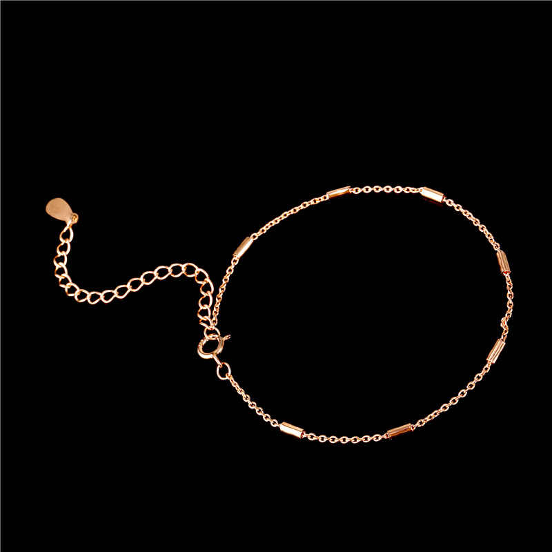 Bracelet de chaîne de cylindre de conception Simple de couleur d'or Rose de MIGGA pour des femmes