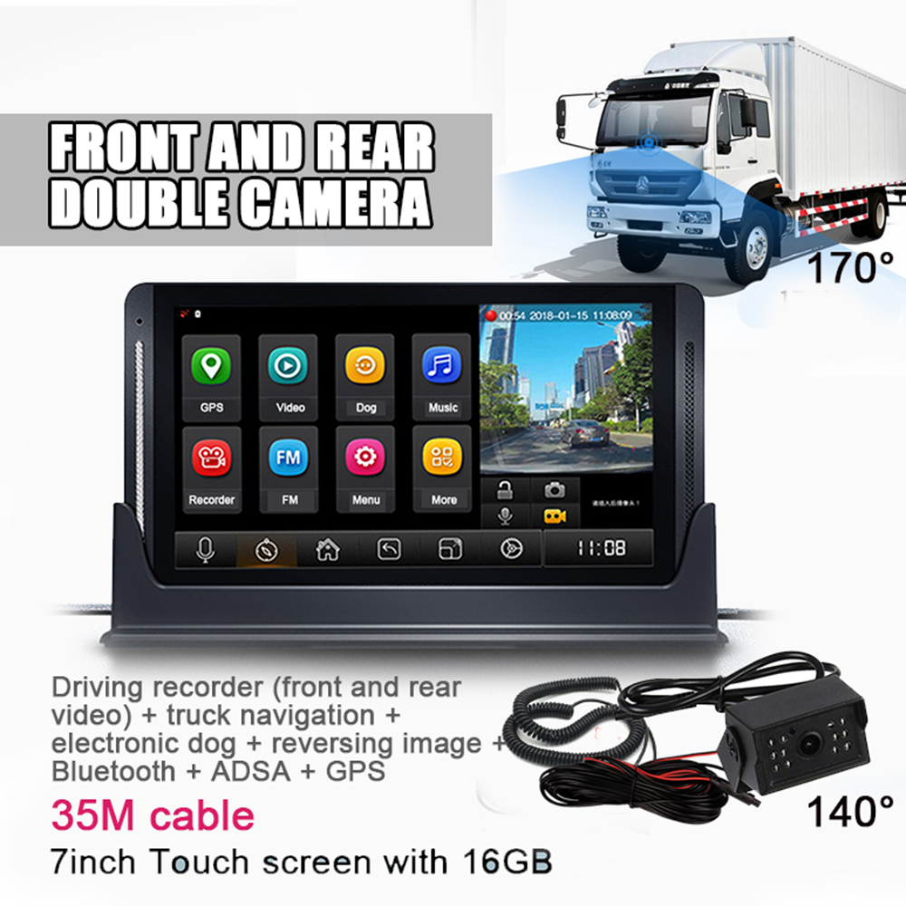 Z7 Car truck school bus camera 1080P 720P driving recorder 2 camera ADAS GPS dvr before and after video reversing camera|Surveillance System| |  - title=