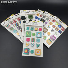ZFPARTY New Colorful Paper Stickers for Scrapbooking/ DIY Crafts/Photo Album/Card Making Decoration(China)