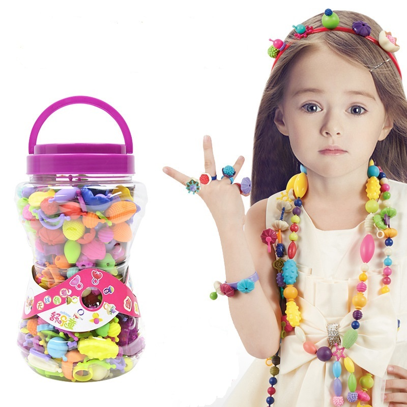 Kids Pop Beads Toys Fashion Toys For Girl DIY Cordless Bracelet Toy Kids Perler Beads Birthday Christmas Gift Toy Dropshipping