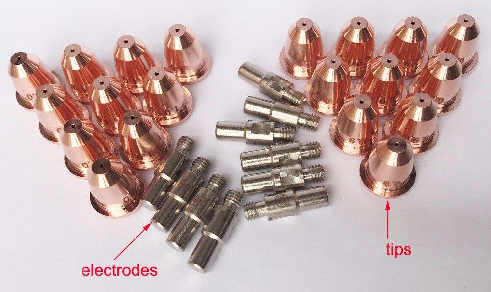 Факел Запчасти для CUT55 не HF резак PT60, 10 электродов, 20 советы