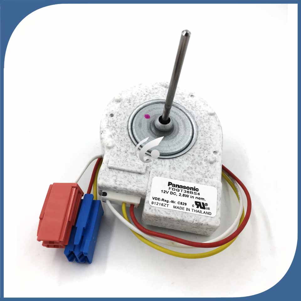 100% new Good working for refrigerator fan motor FDQT36BS4 12v DC 2.8W motor 100% new good working for refrigerator fan motor for refrigerator freezer fdqt34bs1 12v dc