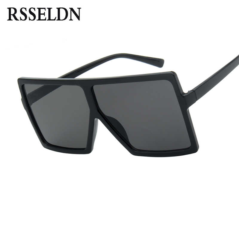 1bbe9cf35931 RSSELDN Oversized Sunglasses Women Big Frame Square Sun Glasses Men Brand  Designer 2019 New Vintage Gradient