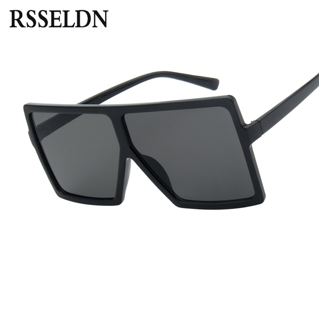 RSSELDN Oversized Sunglasses Women Big Frame Square Sun Glasses Men ...