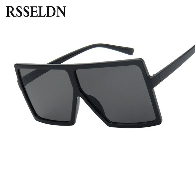 5429bc0520 RSSELDN Oversized Sunglasses Women Big Frame Square Sun Glasses Men Brand  Designer 2019 New Vintage Gradient Shades Eyewear 6547-in Sunglasses from  Apparel ...