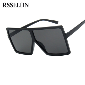 RSSELDN Oversized Sunglasses Women Big Frame Square Sun Glasses Men Brand Designer 2019 New Vintage Gradient Shades Eyewear 6547