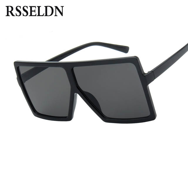 39f2b96582b48 Online Shop RSSELDN Oversized Sunglasses Women Big Frame Square Sun Glasses  Men Brand Designer 2019 New Vintage Gradient Shades Eyewear 6547
