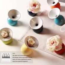 Home Decor Ceramic Small Flower Vases Modern Tabletop Vase ASA Colored  Glaze Christmas Decoration Blue Orange