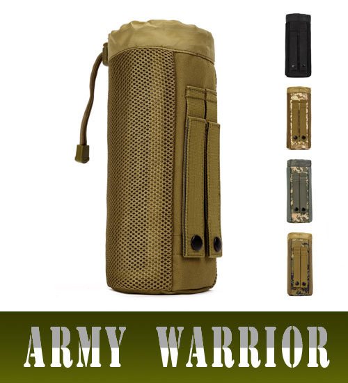 Military Equipment MOLLE Water Bottle Pocket Pouch Fanny Pack 800ML Bag Belt Drawstring Purse Camouflage Waist Bags Travel Packs