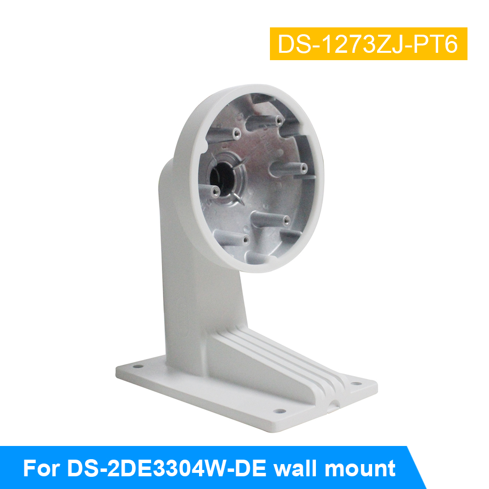 CCTV Bracket DS-1273ZJ-PT6 for DS-2DE3304W-DE PTZ IP Camera Wall Mount Bracket for security cameras junction box ds 1602zj box corner ptz camera bracket corner mount bracket with junction box