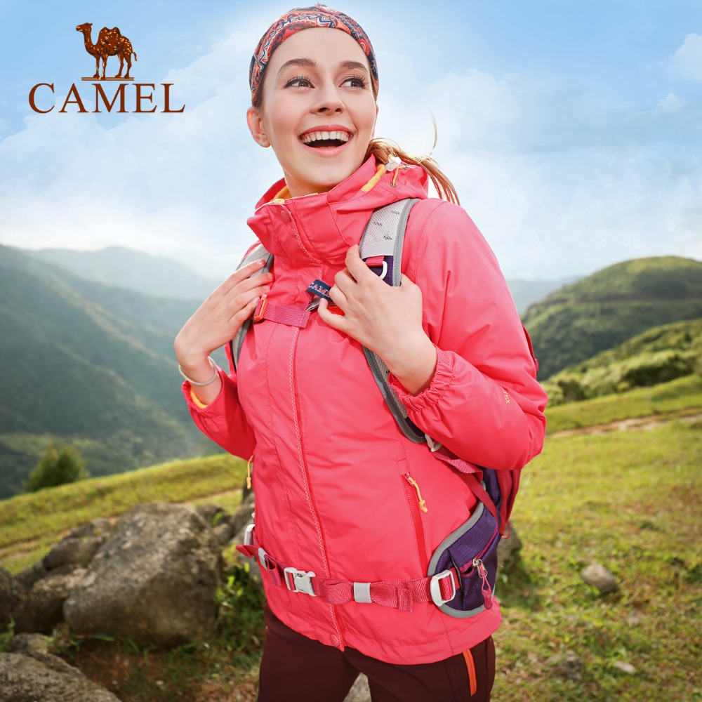 CAMEL Women's New Outdoor Jacket Waterproof Windproof Breathable Warm Brand Camping Climbing Hiking Sports Female Coat цена 2017
