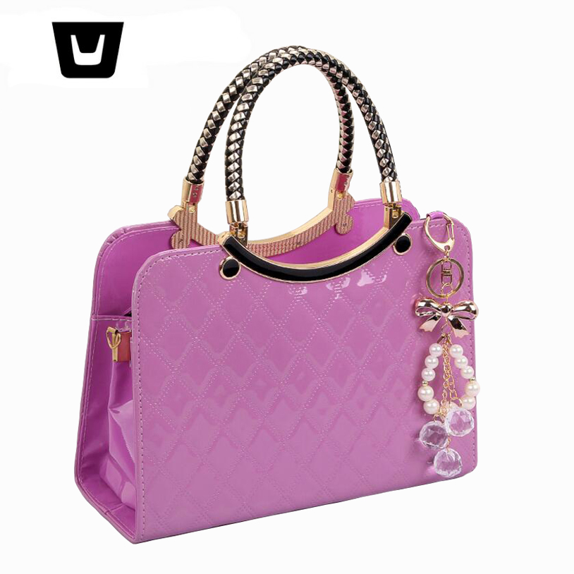 2018 new ladies handbag fashion trend Candy colors big bag Women Diamond pattern shoulde ...