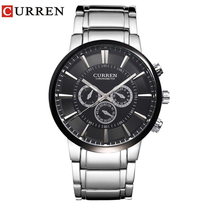 Curren relogios masculinos 2016 Luxury Brand Watch Men Fashion Watch Quartz Business Casual Wristwatch Men Watch 8001 masculinos 100