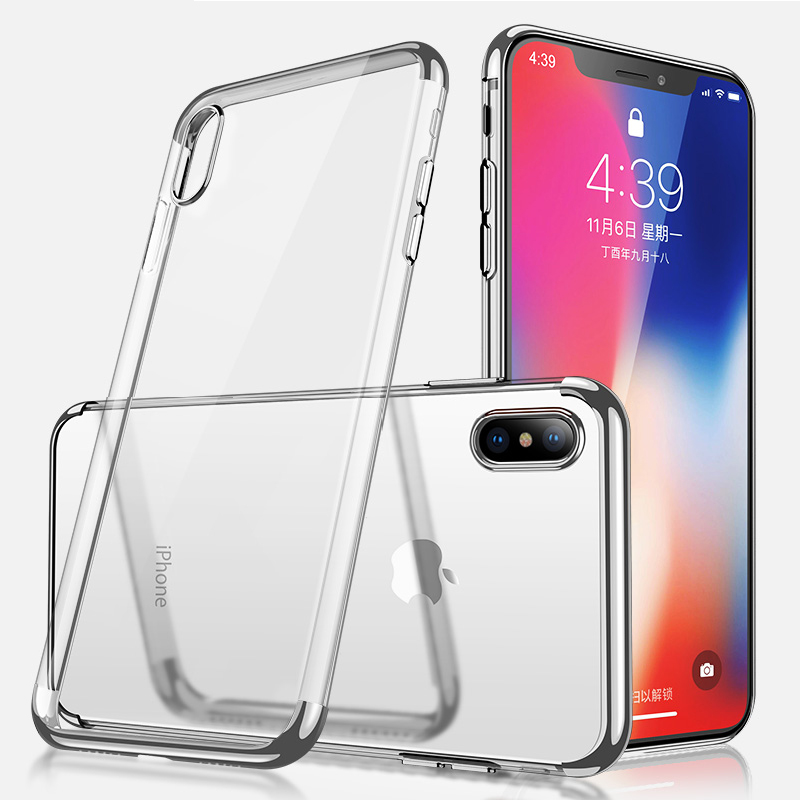 SULADA Transparent Case for iPhone XS Max Case iPhone XS Coque Soft Silicon Ultra Thin Plating Cover for iPhone XS Max XR X Etui iphone