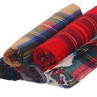 100% lambs wool cashmere women fashion plaid scarfs shawl pashmina 65x200cm grey 5color