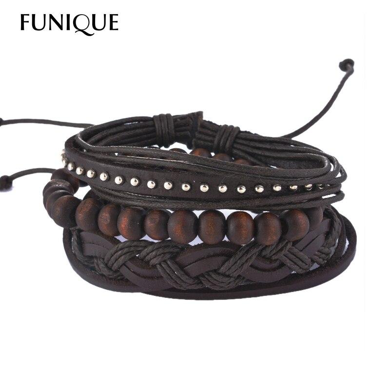 MJARTORIA Leather Bracelets For Women Men Braided Jewelry