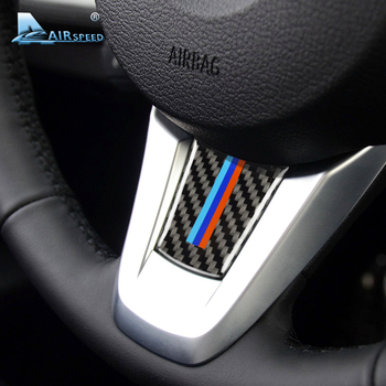 Airspeed for BMW Z4 E89 Carbon Fiber Car Steering Wheel Stickers M Sport Emblem Stickers Z4 Accessories 2009-2015 Car Styling image