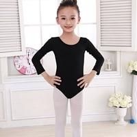2018 Newest Girls Gymnastic Short Sleeve Dance Leotards Training Ballet Dancewear Practice Costume For Kid Girls