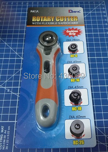 Diy Tools Top quality DAFA BRAND Rubber Handle Rotary Cutter 28mm Fabric...
