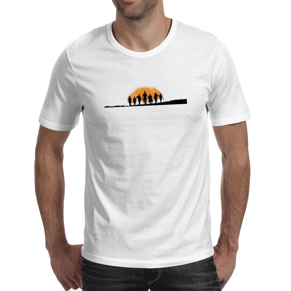 Red Dead Redemption T-shirt Western Cowboy Video Game Movie T Shirt Skate Punk Design Women Men Top