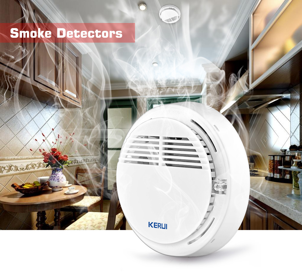 Wireless Alarm Security Smoke Fire Detector / Sensor For all GSM Alarm System For Home House Office wireless smoke fire detector smoke alarm for touch keypad panel wifi gsm home security system without battery